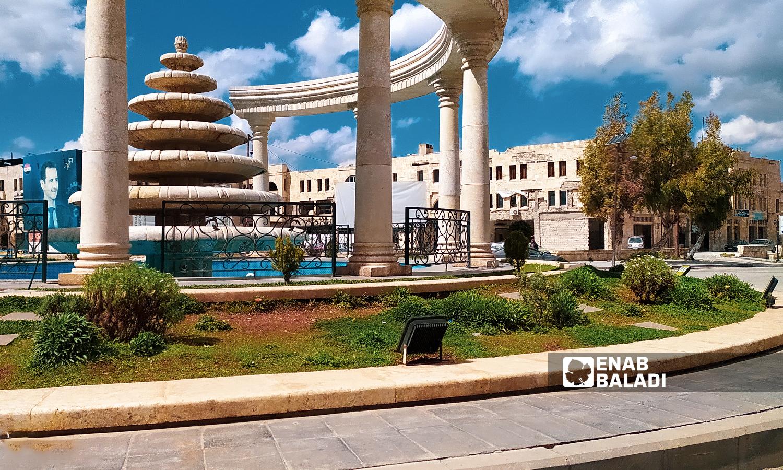 دوار السبع بحرات في المدينة القديمة في  حلب القديمة - 18 تموز 2021 ( عنب بلدي / صابر الحلبي )