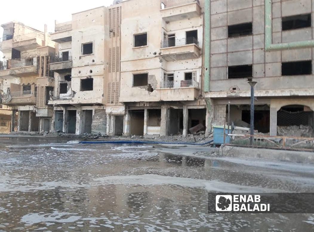 عملية ترميم مشفى النور وسط دير الزور بإشراف المركز الثقافي الإيراني