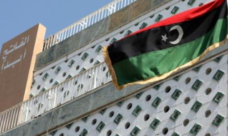 مقر السفارة الليبية في دمشق- 2021 (AFP)