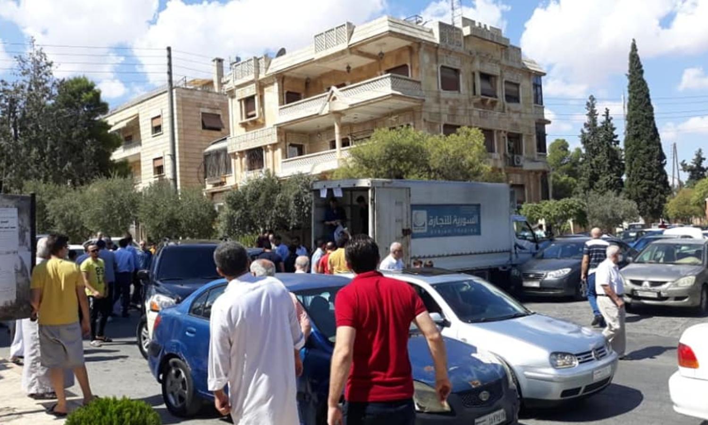 سيارة جوالة لبيع المواد الغذائية في سوريا (المؤسسة السورية للتجارة)