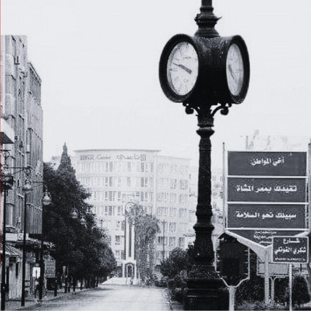 ساعتا حمص القديمة وخلفها الجديدة