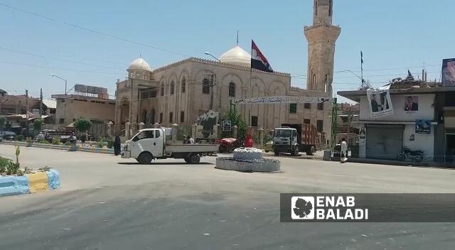 دوار النصر بمدينة البوكمال بالقرب من ساحة الفيحاء