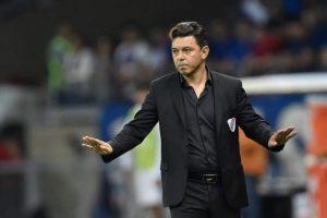مارسيلو جالاردو مدرب فريق ريفر بلايت 23 من نيسان 2020( مارسيلو جالاردو_ فيس بوك).