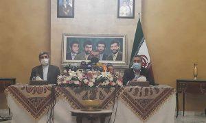 وزير الخارجية الإيراني حسين أمير عبد اللهيان، في لبنان 8 من تشرين الأول 2021 (قناة المنار)