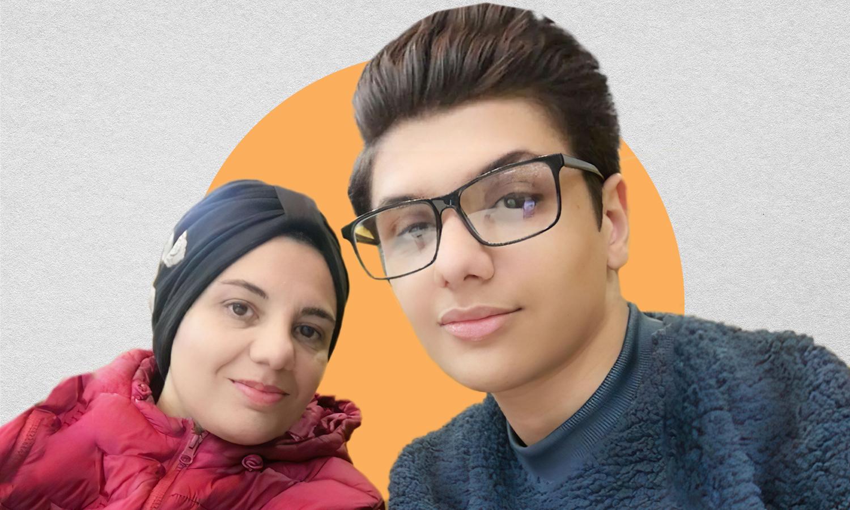 بلال باطوس وأمه منال رواح (تعديل عنب بلدي)