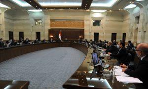 اجتماع لمجلس الوزراء في حكومة النظام السوري (موقع المجلس في تويتر)