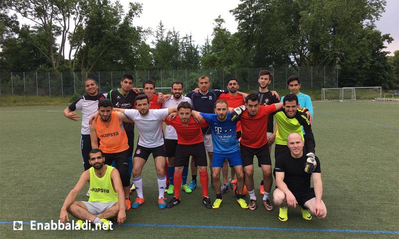 (Qasioun Club training in the German city of Esben – Friday, June 24th – Enab Baladi)