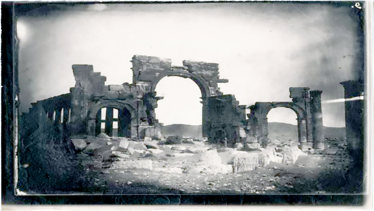 The oldest picture of the ancient city of Palmyra, published by the Getty Research Institute last year, and photographed by the French officer and photographer Louis Feeney in 1864.