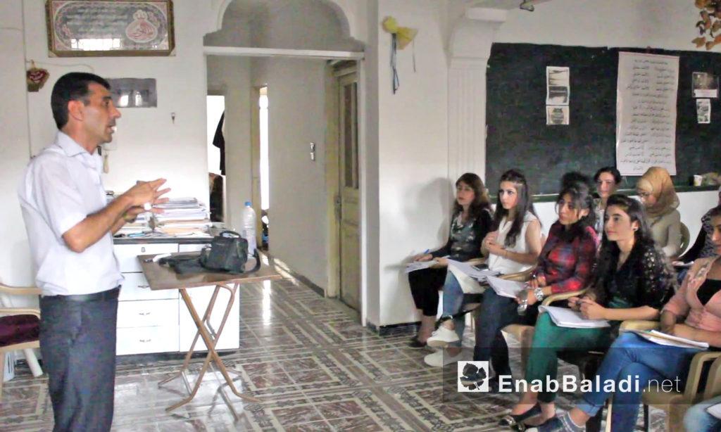 Khaled Najeeb – a Kurdish teacher, teaching Arabic in Qamishli