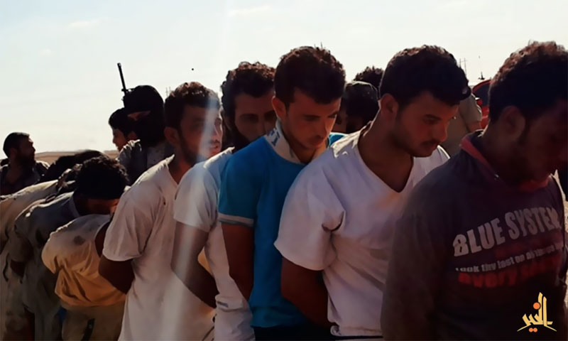 """: """"Islamic State"""" forces execute young men in Deir Ez Zor, Syria (Twitter)"""