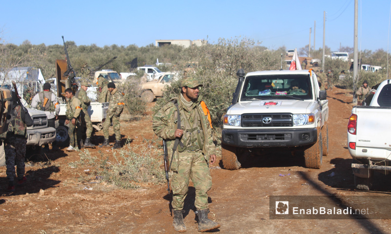 Members of the Free Syrian Army in the outskirts of al-Bab, 19 December 2016 (Enab Baladi)