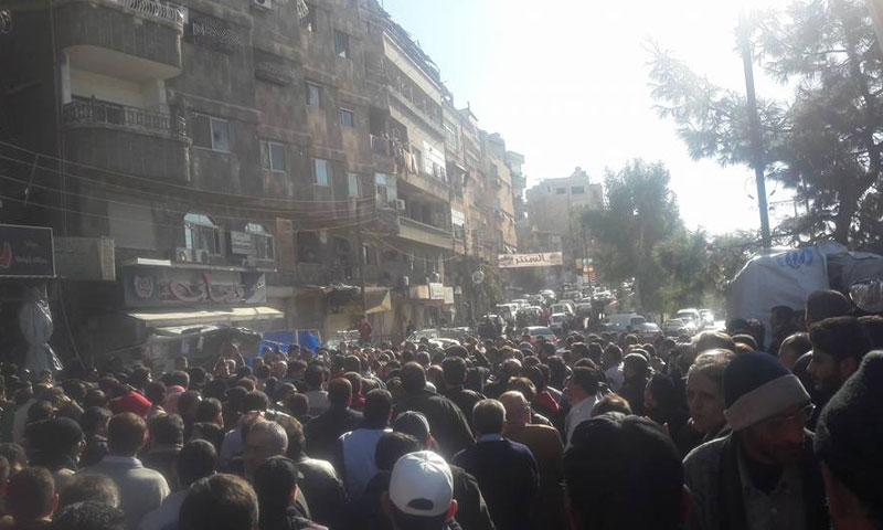 Protests in al-Tal city demanding that armed factions leave the city – 25 November (Communication Committee of al-Tal city)