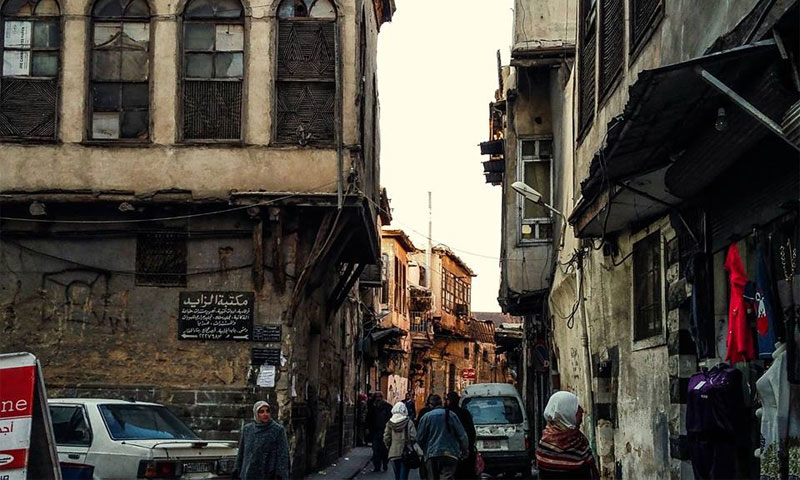 Al-Hajjaj Palace in the commercial district of Damascus, 14 November 2016 (Lens of a Damascene Youth, Facebook)
