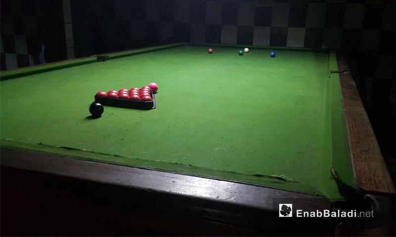 A billiard venue in Idlib city, 30 December 2016 (Enab Baladi)