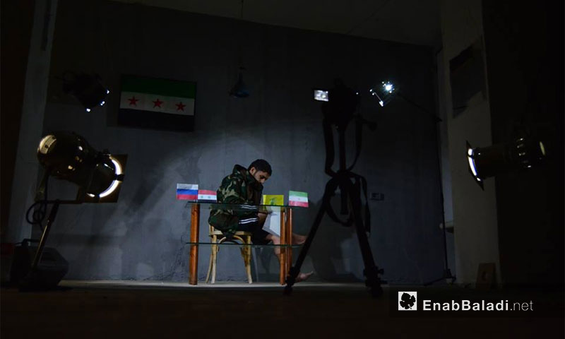 Behind the scenes at the first episode of Southern Sketch, 09 January 2017 (Enab Baladi)