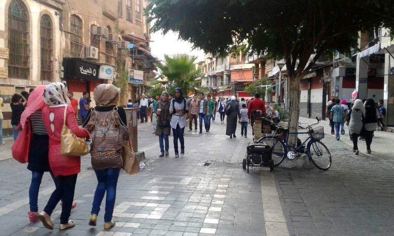 Girls walking in the streets of Old Damascus (Internet)