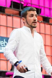 """Wael al- Masri during his participation in the """"Websummit Lisbon"""" competition 2016"""