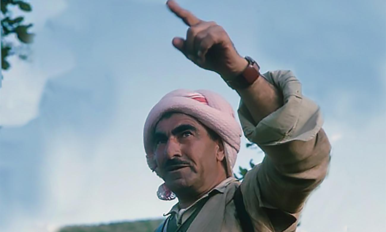 Mustafa Barzani, a Kurdish leader from northern Iraq