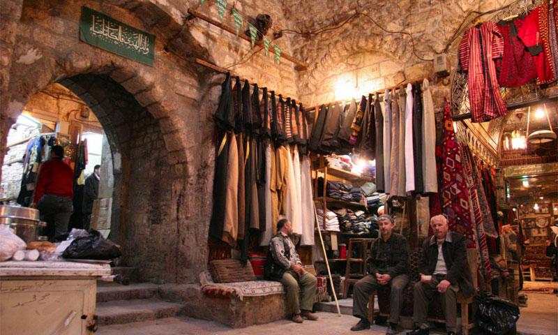 Archival picture from Al-Madina Souq in Aleppo (Source: sonocarina website)