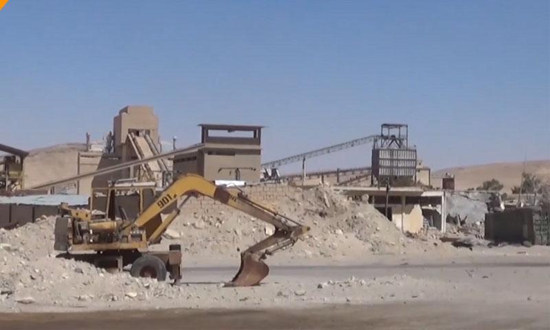 Phosphate Mines in Khunayfis, in the countryside of Homs (Sputnik)