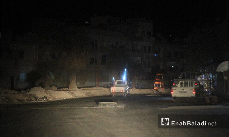 Idlib roads at night - June 2, 2017 (Enab Baladi)