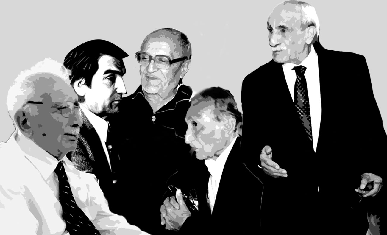 A group of politicians who contributed to the formation of the first Kurdish party (modified by Enab Baladi)