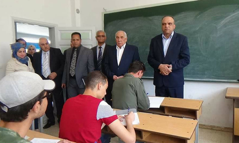 The preparatory school exams in the regime-held areas in Daraa - Wednesday, May 31 (Facebook)