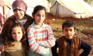 In the Atmah Refugee Camp on the borders with Turkey, Dec. 24, 2012. Photo by Basma