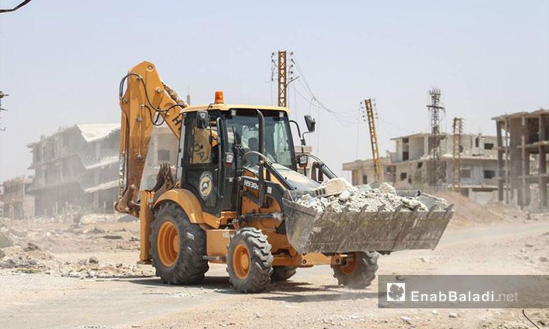Civil Defense Teams Remove Rubble from Daraa Neighborhoods – July 28, 2017
