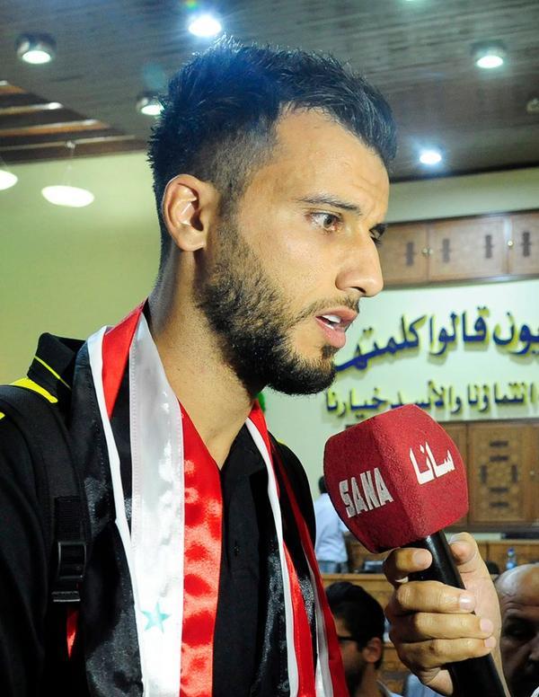 Omar al-Somah, player of the national Syrian team and Al-Ahli Saudi FC