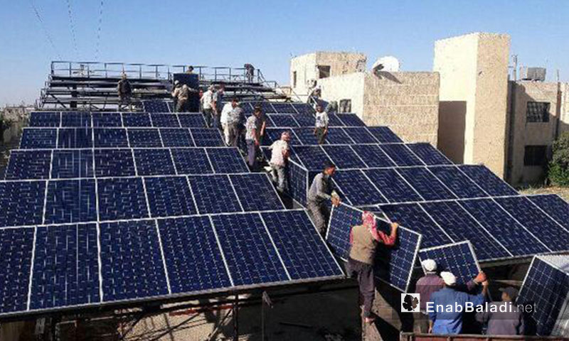 Solar Panels to Operate Nawa Hospital in Daraa - September, 13 2017 (Enab Baladi)