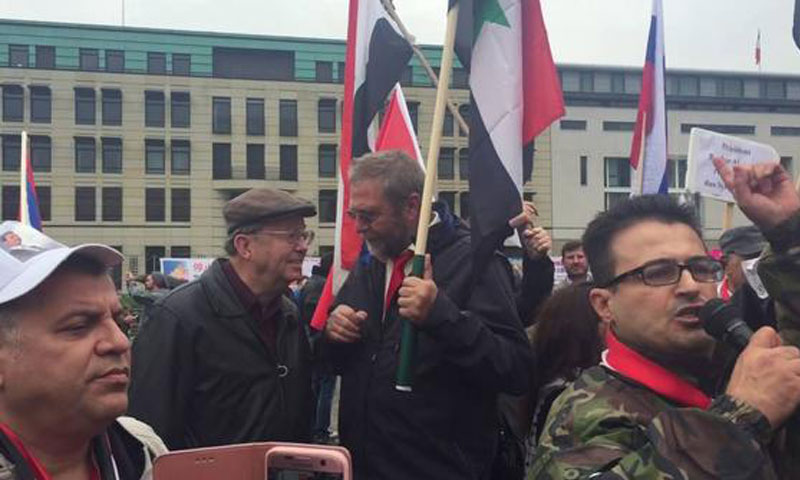 Al-Assad's supporters organize a march in Berlin – October 1, 2016 (YouTube)