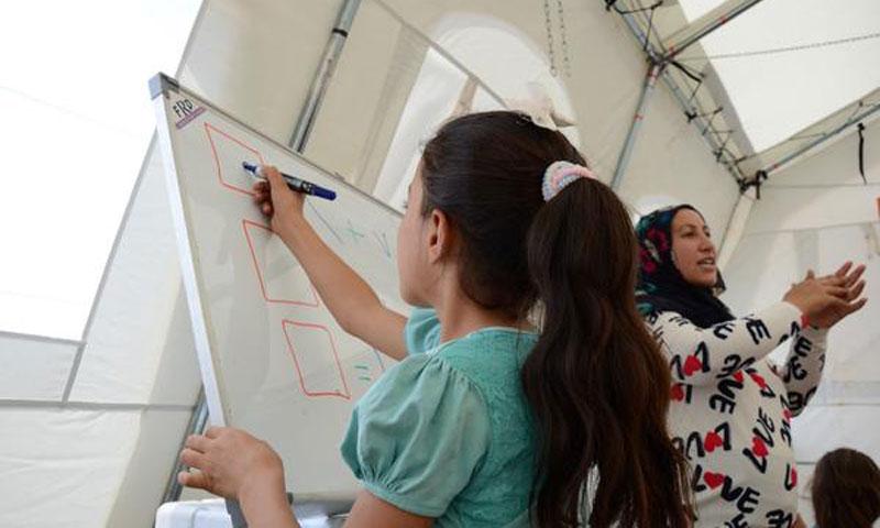 A Syrian girl trained at Kawa camp, northern Iraq (UNICEF)