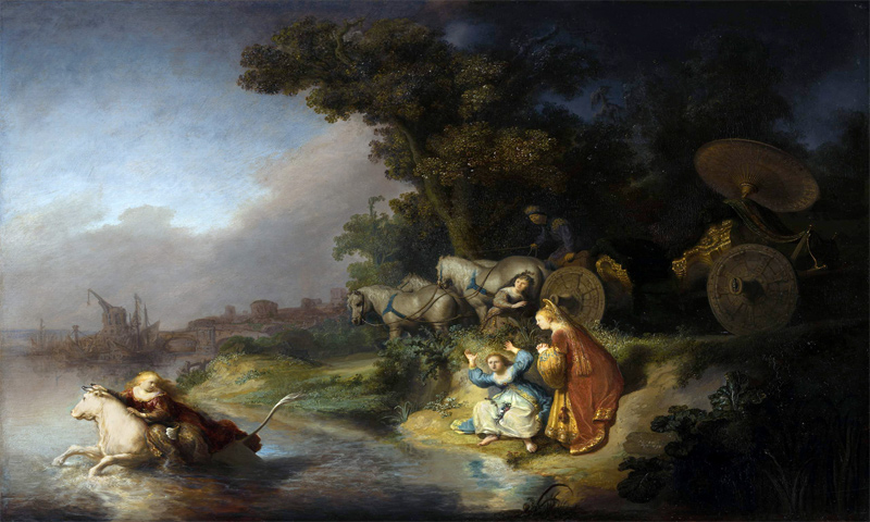 The myth of Europe as painted by Dutch artist Rembrandt (Eurocles)