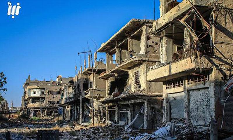 Daraa al-Mahatta's market south of Syria - September 2017 (Nabaa)