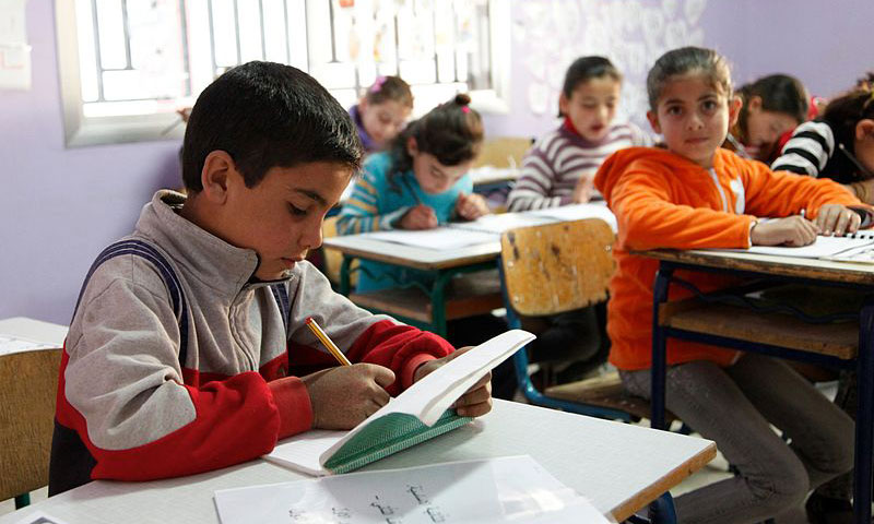 Syrian children return to school in the Lebanese Beqaa Valley (UNICEF)