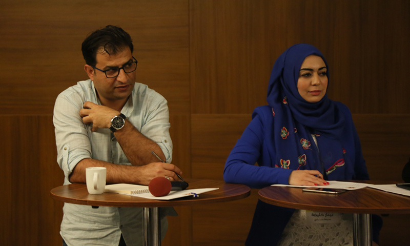 """Local media representatives participating in """"Syrian Media Confronting Yellow Journalism"""" Forum - October 29, 2017"""