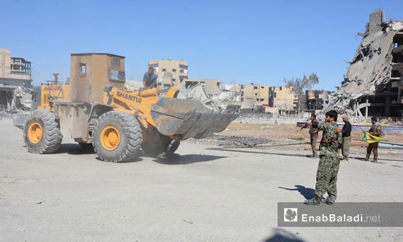 "Expressive image: ""SDF"" fighters in Raqqa - October 2017 (Enab Baladi)"