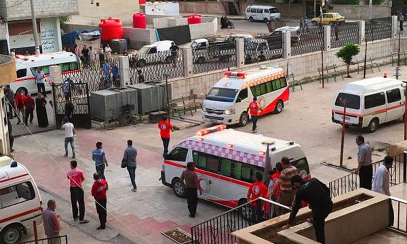 Red Crescent's Ambulance Service in Daraa al-Mahatta - (Internet)