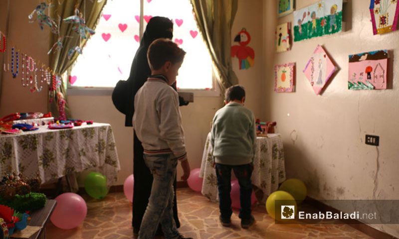"""""""I Will Be"""" exhibition in Eastern Ghouta, November 13, 2017 (Enab Baladi)"""