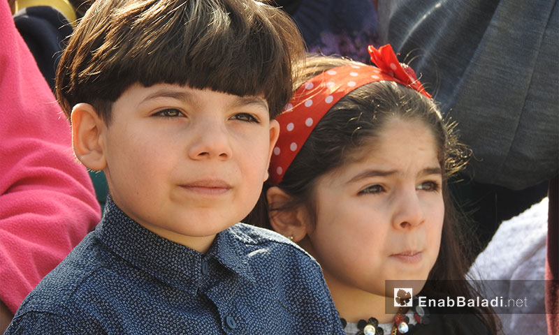 The first students festival marking the beginning of the school year in the city of Jarabulus, 7 November- 2017 (Enab Baladi)