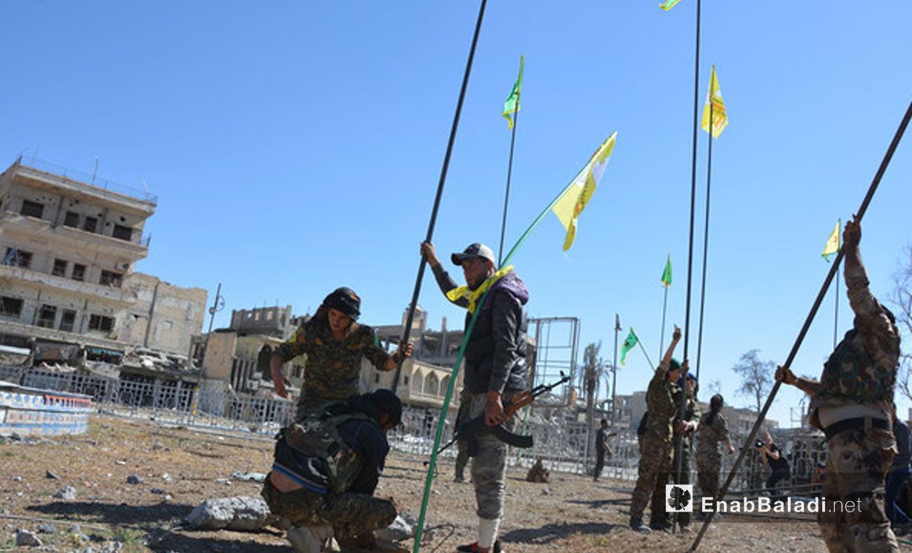 Syrian Democratic Forces after they entered Raqqa - October 19, 2017 (Enab Baladi)