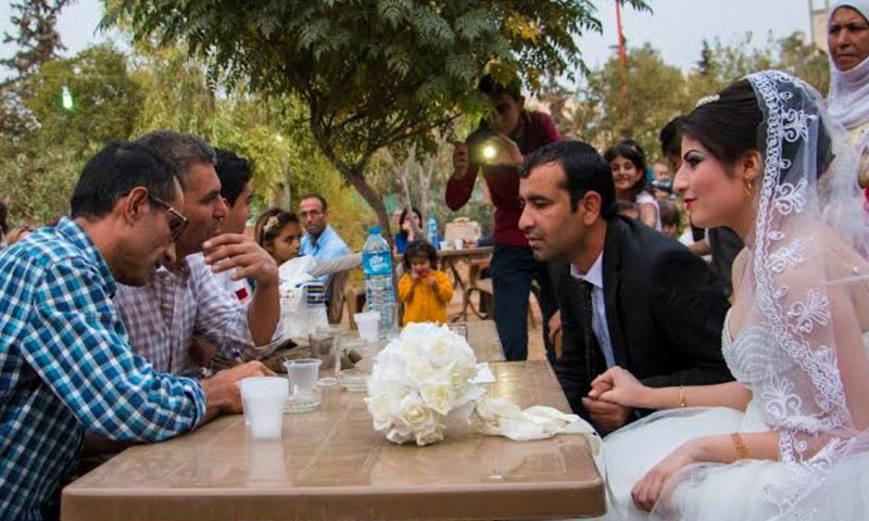 The first civil marriage in the town of Tell Abyad in Ayn al-Arab city 2015 (Internet)