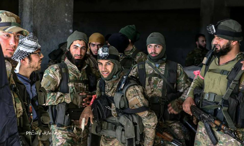 Elements of the opposition factions during the operation of breaking the siege over Eastern Aleppo (Activist Aaref Watad)