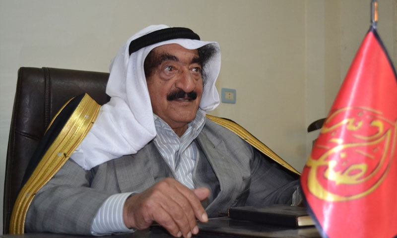 Humaydi Daham al-Hadi, leader of the Shammar tribe