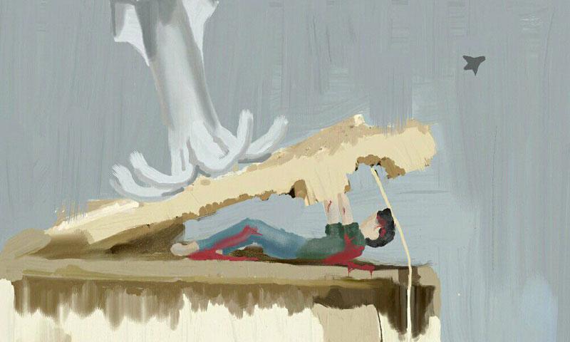 Drawing by Fatima (Enab Baladi)