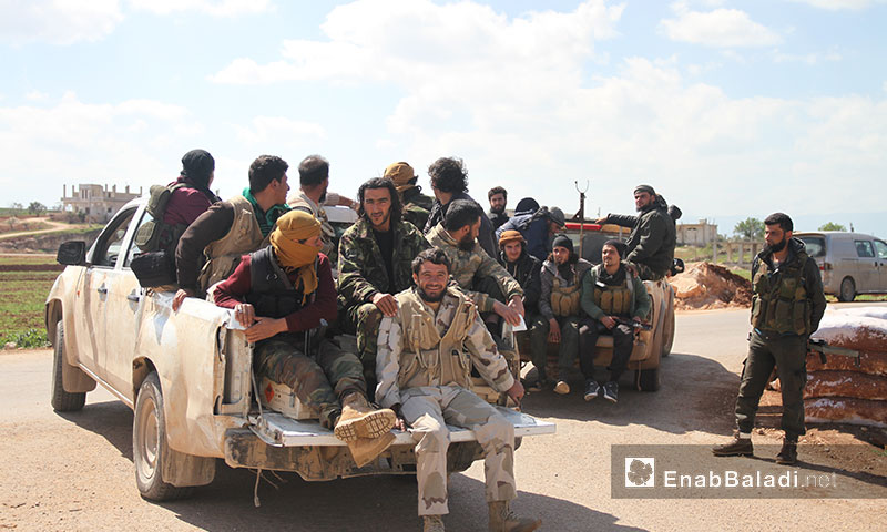 Opposition fighters in the northern countryside of Hama governorate - November 2017 (Enab Baladi)
