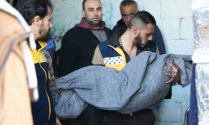 A child was killed in the artillery shelling of northern Homs - 9 January 2018 (Syrian Civil Defense)
