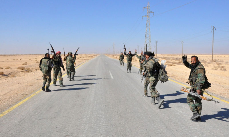 Members of the Assad's forces on the military fronts in the eastern countryside of Homs - September 2017 (Internet)
