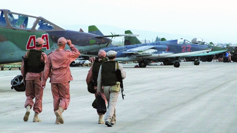Russian aircrafts at Khmeimim Air Base in rural Lattakia (Sputnik)